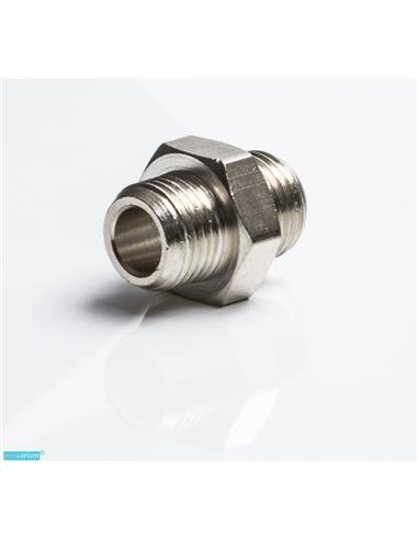 União macho-macho 1/8 para 1/4 metal  P/CO2 - 2103143